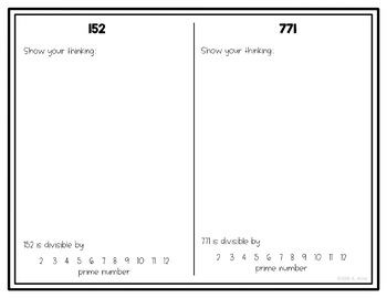 Divisibility Rules NO PREP Printable