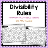 Divisibility Rules NO PREP Printable Mazes