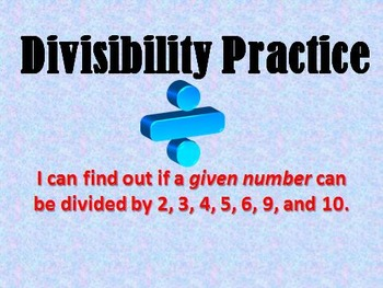 Divisibility Rules PPT Practice