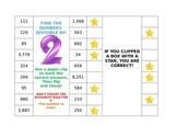 Divisibility Rules Paper Clip Cards
