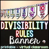 Divisibility Rules Pennant Banner