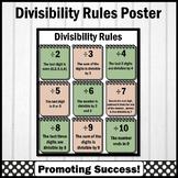 Divisibility Rules Poster, Math Anchor Chart, Modern Farmhouse Classroom Decor