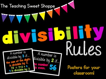 Divisibility Rules - Posters