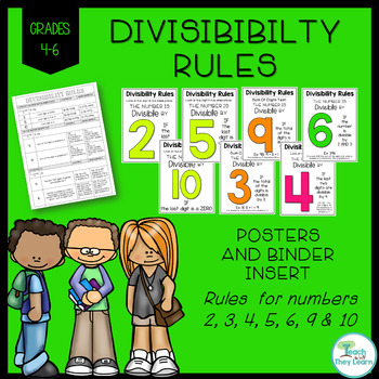 Divisibility Rules - Posters AND Binder Reference Sheet