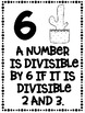 Divisibility Rules Posters Cactus Theme ~Black & White~ For Easy Printing