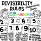 Divisibility Rules Posters Combo Pack Melonheadz Theme Color & Blackline