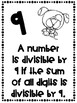 Divisibility Rules Posters Farm Theme ~Black & White~ For Easy Printing