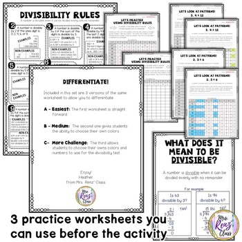 St. Patrick's Day Divisibility Math Center & Divisibility Rules Reference Chart