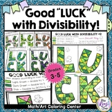 St. Patrick's Day Math Art Coloring Divisibility Math Center - St. Patricks Math