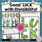 Divisibility Math Art Coloring - St. Patricks Math Colorin
