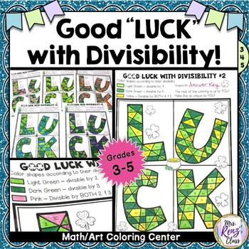 St. Patrick's Day Divisibility Math Center & Divisibility