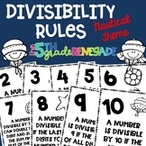 Divisibility Rules Posters Nautical Theme ~Black & White~