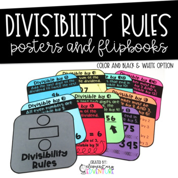 Divisibility Rules Posters and Flipbook