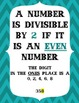 Divisibility Rules Posters (chevron border)