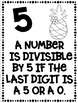 Divisibility Rules Posters in Black & White for Easy Printing Flamingo Theme