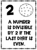 Divisibility Rules Posters in Black and White Easy Printing Doughnut Donut Theme