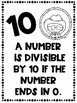 Divisibility Rules Posters in Black and White for Easy Printing Western Theme