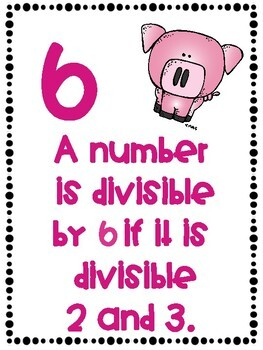 Divisibility Rules Posters in Color with a Farm Theme