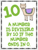 Divisibility Rules Posters in Color with a Llama Alpaca Theme
