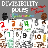 Divisibility Rules Posters in Color with a Star Wars Theme