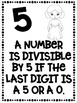 Divisibility Rules Posters in Black & White Star Wars Theme Easy Printing