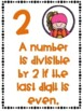 Divisibility Rules Posters in Color with a Superhero Kids Theme