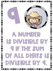 Divisibility Rules Posters in Color with a Western CowboyTheme