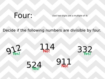 Divisibility Rules Power Point