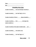 Divisibility Rules Quiz