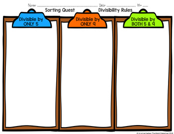 Divisibility Rules Sorting Quest