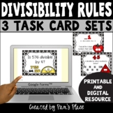 Divisibility Rules Activities with Task Cards PRINTABLE an