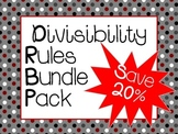 Divisibility Rules Task Cards and Games ***Bundle Pack***