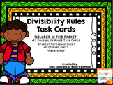 Divisibility Rules Task Cards