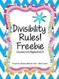Divisibility Rules!  Worksheet Freebie