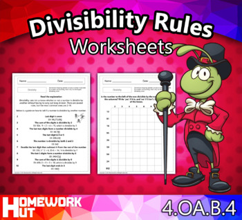 4 oa 4 divisibility rules worksheets by homework hut tpt rh teacherspayteachers com