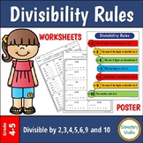 Divisibility Rules Worksheets and Poster | Distance Learning