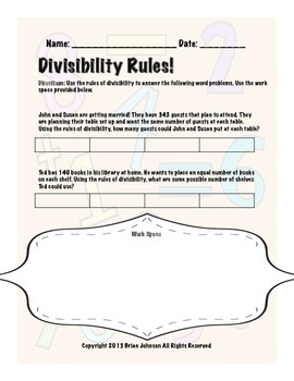 Divisibility Rules! {Worksheets to Teach Rules of Divisibility}