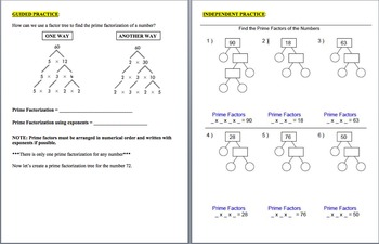 Divisibility Rules and Prime Factorization
