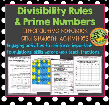 Divisibility Rules and Prime Numbers Interactive Notebook