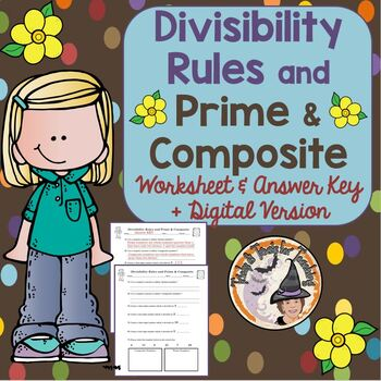 Divisibility Rules and Prime and Composite Divisible Worksheet Numbers