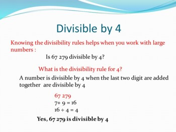 Divisibility Rules for 2, 3, 4, and 5