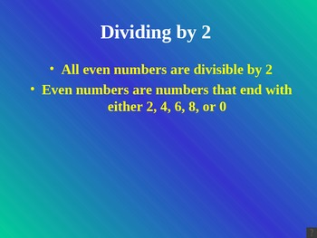 Divisibility Rules for 2, 3, 6, 5, and 10