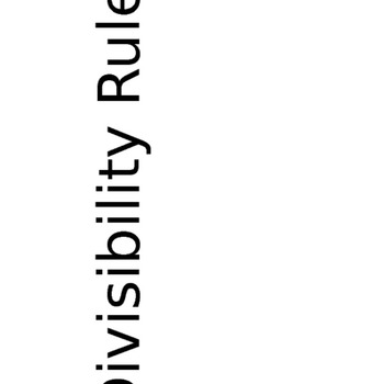 Divisibility Rules to Post