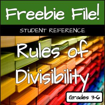 Divisibility Student Reference