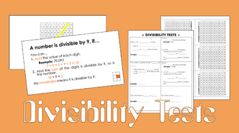 Divisibility Tests/Rules Foldable and PowerPoint