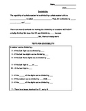 Divisibility Tricks and Equivalent Fractions Notes and Homework