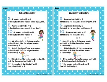 Divisibility Rules and Factors