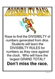 Divisibilty Dash: A Divisibilty of Numbers Game