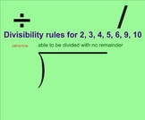Divisibilty Rules - Smartboard Lesson