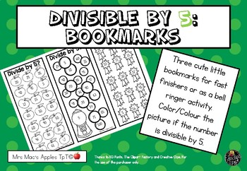 Divisible by 5 Bookmarks